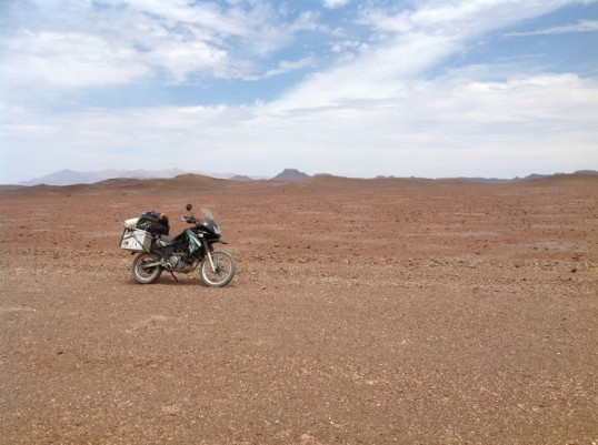 Namibia: Close to the Messing crater.